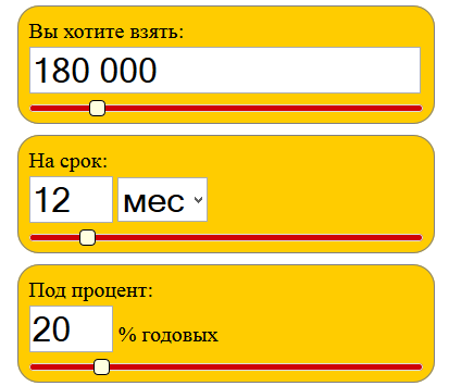 Кредитный онлайн калькулятор